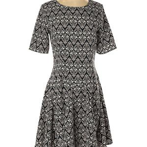 H&M conscious multicolor print fit and flare dress